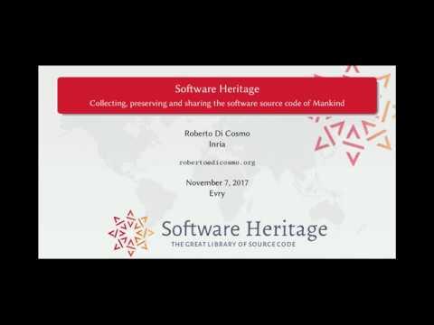 Conférence de Roberto Di Cosmo, fondateur de Software Heritage