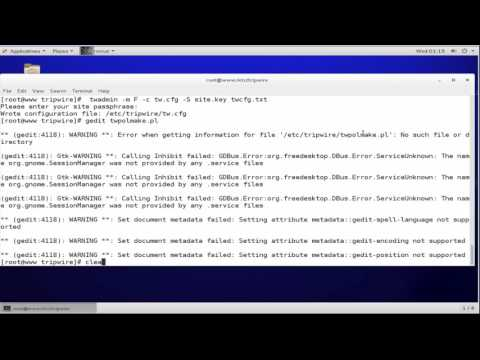 Tripwire Host Based IDS Intrusion Detection System  install in centos 7