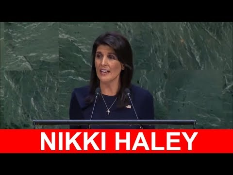 Nikki Haley at UN General Assembly Meeting on Cuba 2017