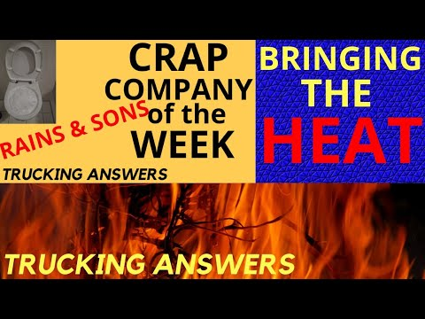Putting the heat on the CRAP COMPANY of the WEEK Rains and Sons