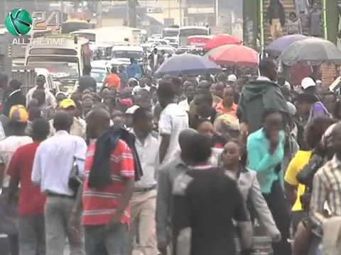 Matatu Strike Paralyzes Transport In Nairobi - YouTube
