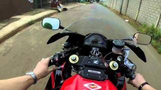 PRIMEIRO VIDEO EM GOIANIA - ROLE DE CBR1000 E ESGOTO EM GOIANIA   MOTO filmadores UK