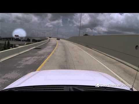 Billboard Video Ride: Static Bulletin #48: I-4 and Nebraska Ave (Upper View)