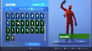 Fortnite Inferno skin doing Emotes| all of my Emotes| Zombie Slasher114| Sub and like.