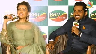 Karthi (BRU), Surya (Sunrise), Sivakumar(No to coffee) - What to drink? | Kajal Agarwal Speech