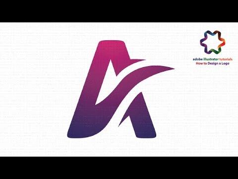 illustrator tutorial : Create Letter Logo Design Using Font and Pen Tool - Text Effect Logo Design