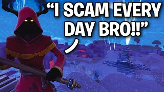 Using a STRANGE Method to Scam a Scammer!! 🤣 (Scammer Get Scammed) Fortnite Save The World