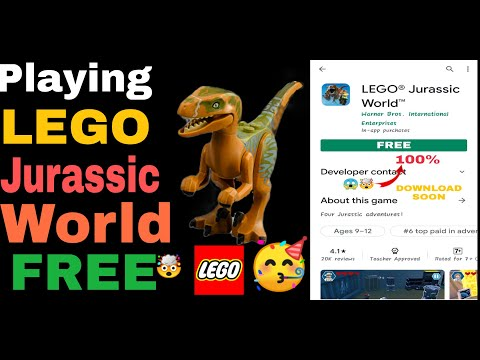 Playing Lego Jurassic World And It's Paid Game |