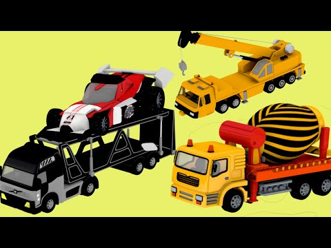 Kids Toys - Construction Truck Crane Toys for Kids | Surprise Egg Toys unboxing by Jugnu Kids