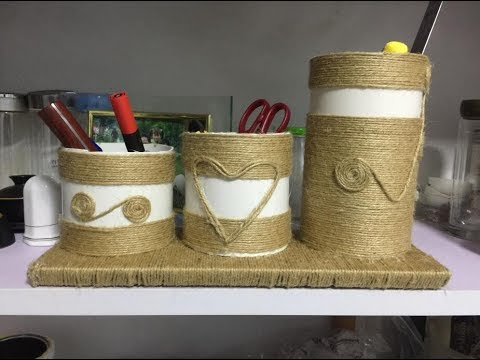 How to Make Pen Holder with rope and pvc | DIY Rope | DIY Crafts