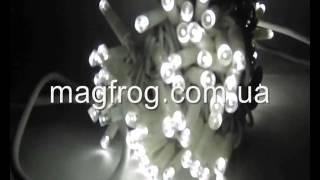 Уличная гирлянда нить холодный белый на белом проводе 10м(Гирлянды уличные нити могут находиться на улице в течении 8 лет. Благодаря качественным каучуковым материа..., 2015-10-25T20:45:01.000Z)
