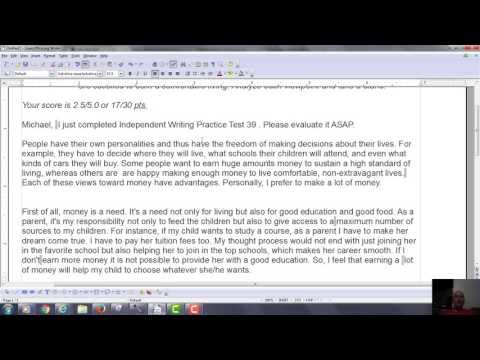 Error Correction Video for TOEFL Independent Writing 39 for SK