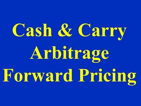 Cash & Carry Arbitrage - Forward Pricing