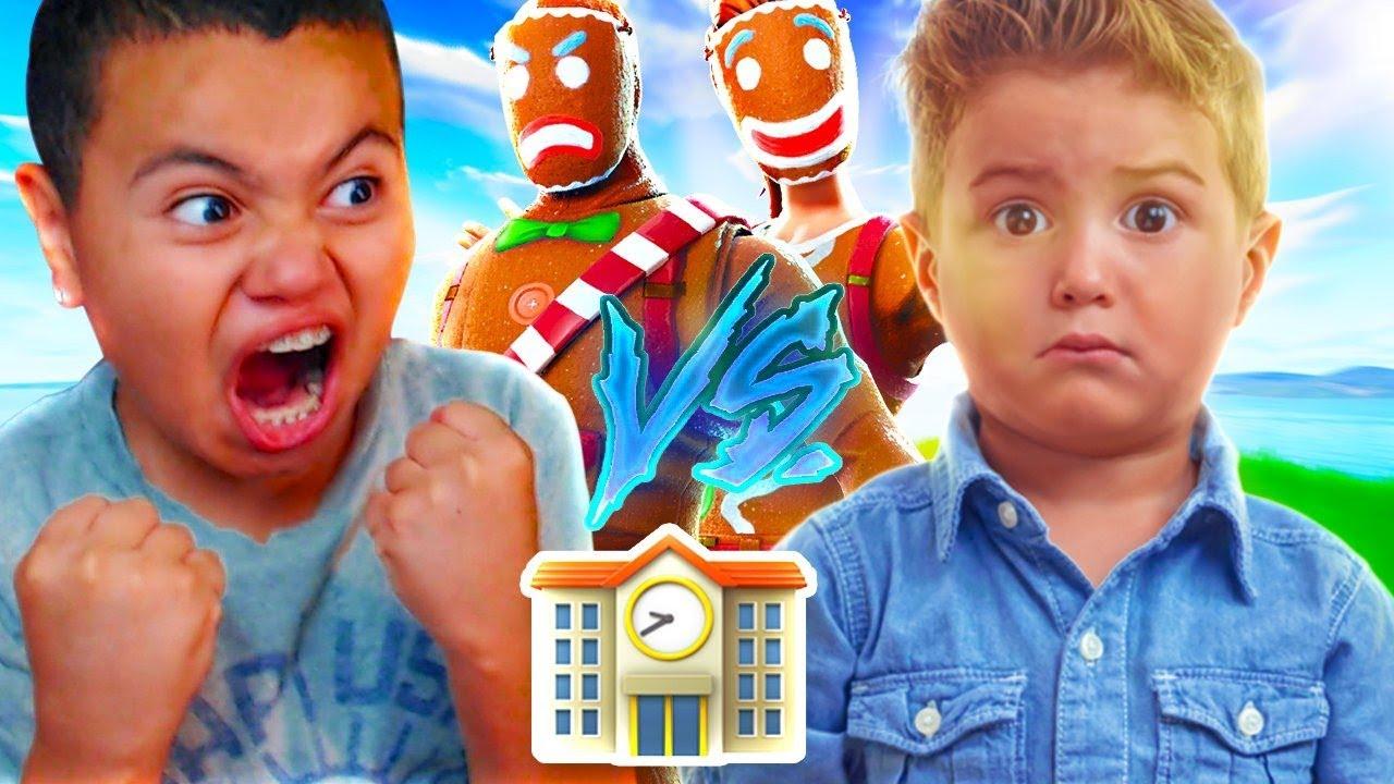 Download 1V1 MY LITTLE BROTHER VS THE BEST PLAYER AT HIS SCHOOL!!! (TRASH TALKER) FORTNITE   MindOfRez