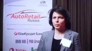 Анжела Моисеева, Автоцентр Сити - интервью на форуме АвтоРитейл в России 2014