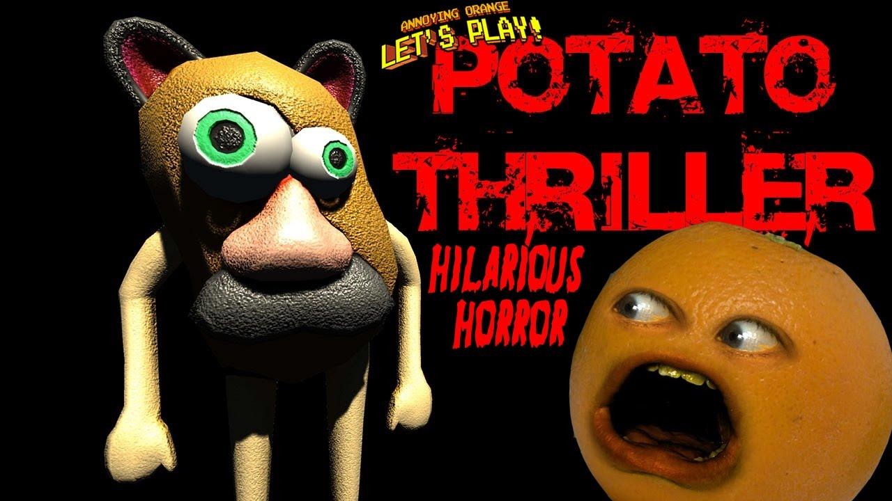 annoying orange plays p t potato thriller hilarious horror