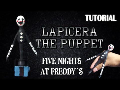 Tutorial Lapicera The Puppet en Porcelana Fria / FNaF / Pen in Cold Porcelain