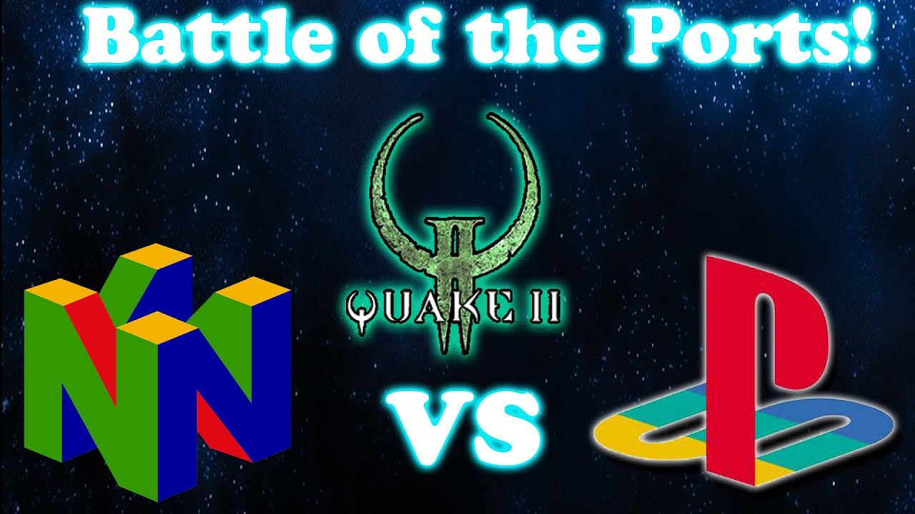 [Battle of the Ports Old School]Quake 2 N64 Vs Quake 2 PSX - Strogg  Outpost[Opening Level]