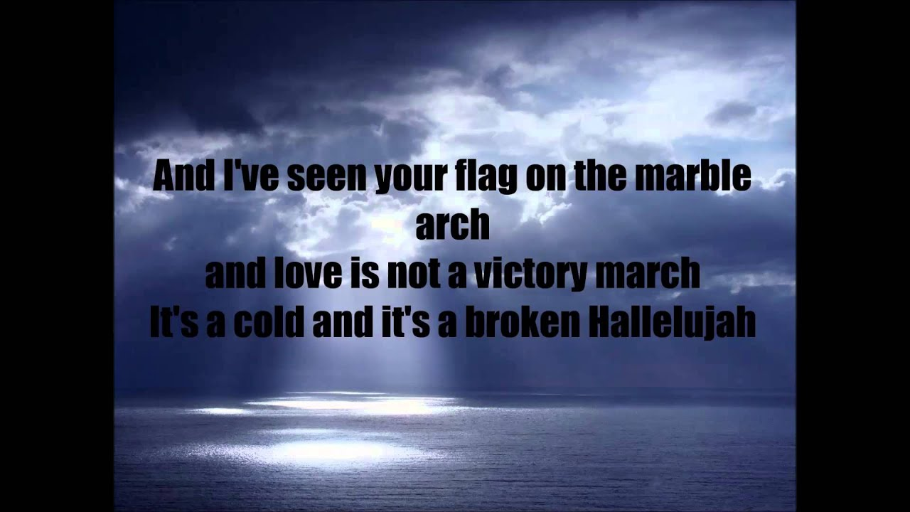 Hallelujah rufus wainwright lyric video