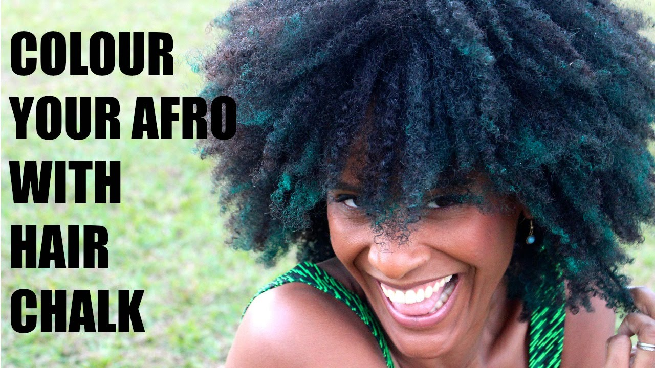How To Colour Natural Afro Hair With Chalk