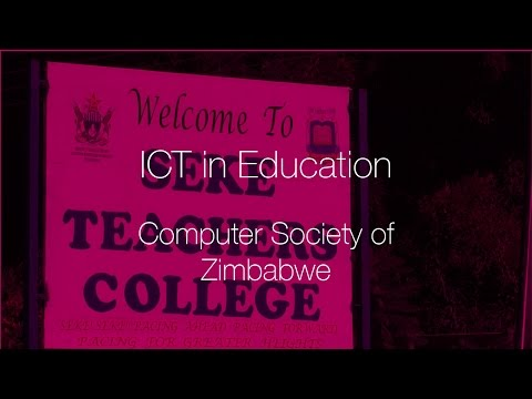 ICT in Education Pilot by Computer Society of Zimbabwe