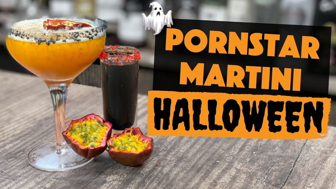 Pornstar Martini Cocktail Halloween Edition Easy Cocktails To Make At Home Bar Steve The Barman Youtube