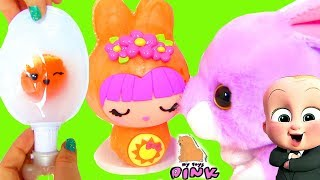 #Smooshins Kawaii Squishy Maker #Зверюшки СВОИМИ РУКАМИ Surprise Eggs | Май Тойс Пинк