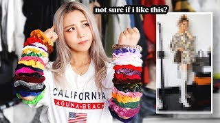 Colored Scrunchies Pick My Outfits for a Week! *Found my new style!*