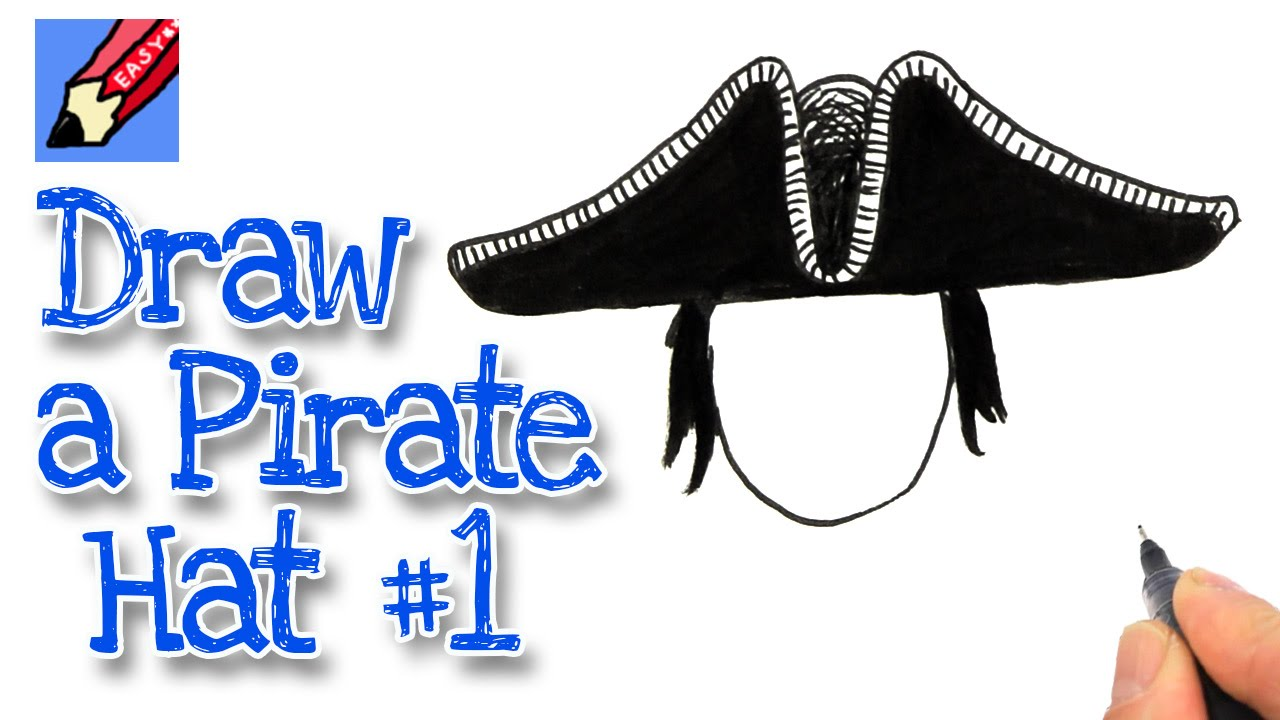 how to draw a pirate hat style 1 youtube
