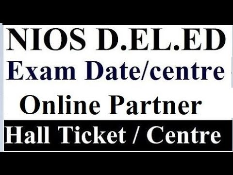 NIOS D.EL.ED Exam Date and Centre Live Discussion, Question Answer session | Online Partner