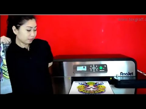 58bfb799 Anajet Direct to Garment Printing on Hoodies - YouTube
