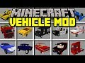 Minecraft VEHICLE MOD! | DRIVE ANY CAR, TRUCK, VAN IN MINECRAFT! | Modded Mini-Game