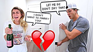 Getting Drunk With The Door Locked Prank On Fiance.. *CUTE REACTION*