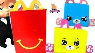 Happy Meal Toys 2018 at McDonalds ШОПКИНСЫ Petkins И YO KAI Босс Молокосос Мультик | Май Тойс Пинк