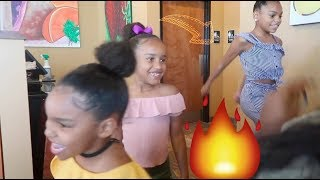 ILANI TEACHES US THE SHOOT DANCE| BRUNCH WITH PIERRE SISTERS & AJ MOBB
