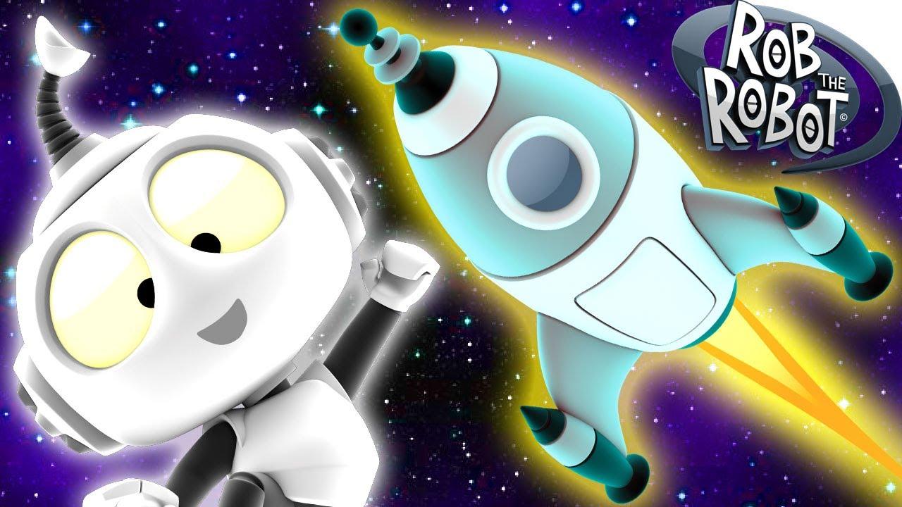 Dibujos Animados  Rob el Robot  Problema de Cohete