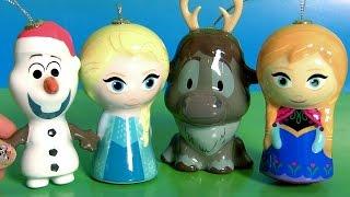 play doh disney frozen princesa anna rainha elsa olaf sven ovos surpresa ornamentos de natal