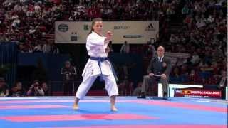 Yaiza Martin Abello vs Biserka Radulovic. Bronze Female Individual Kata. WKF Championships 2012