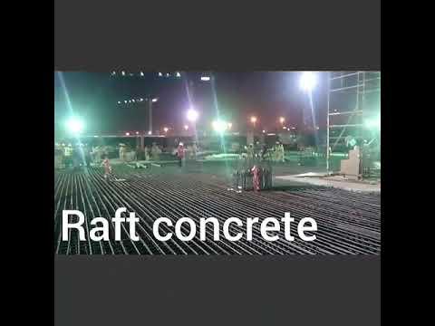 Raft # concrete with the help of Distributor pump # in #dubai# UAE