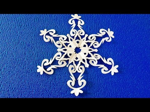 How to cut paper snowflakes. Make paper snowflake. Try to make yourself