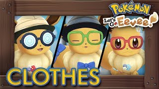 Pokémon Let's Go Pikachu & Eevee - All Clothes & Outfits