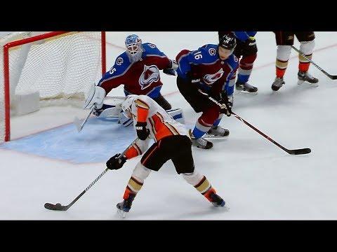 Jonathan Bernier's incredible stick save leads to Nathan MacKinnon's goal