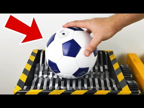 SHREDDING FOOTBALL - Experiment at Home