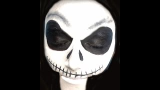 Jack Skellington Halloween Makeup Tutorial | Primp Powder Pout Thumbnail