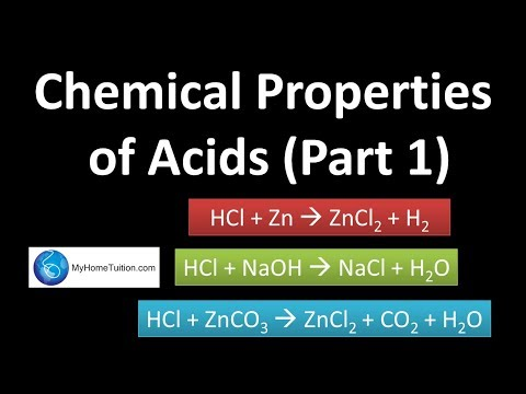 Chemical Properties of Acids | Acids and Bases