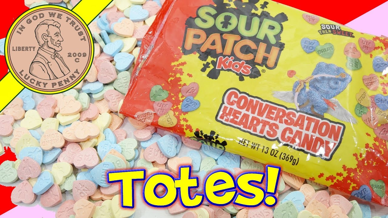 Valentines Day Sour Patch Kids Conversation Candy Hearts
