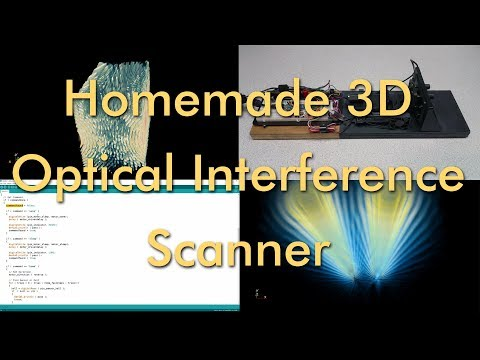 Homemade 3D Optical Interference Scanner