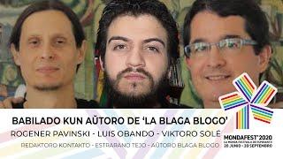 #mondafest2020 En Kontakto Babilado kun aŭtoro de la 'blaga blogo'