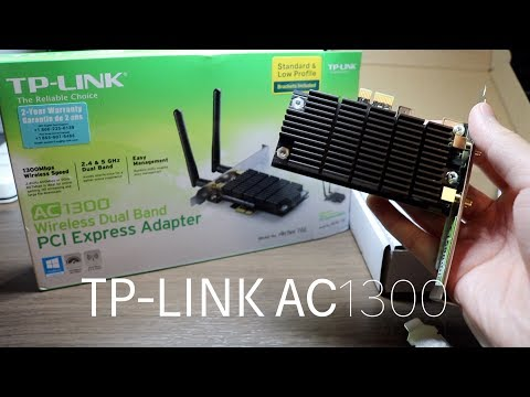TP-Link AC1300 PCIe Adapter Unboxing