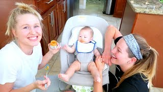 BABY LOVES EATING SOLIDS!!!